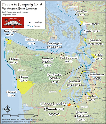 Paddle to Nisqually map