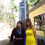 Clarita Lefthand-Begay and Charlotte Coté
