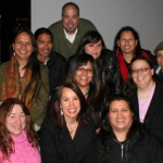 Native Voices students, past and present, gathered recently at the 2008 Native Voices Film Festival. Photo by Daniel Hart.