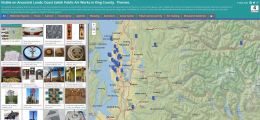 Sample shot of new website identifying Coast Salish art in King County