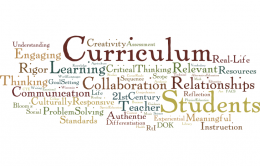 Generic curriculum word cloud
