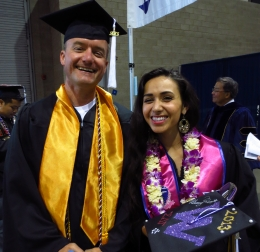AIS graduates Abraham White and Kimberly Richardson, UW Commencement, June 2013