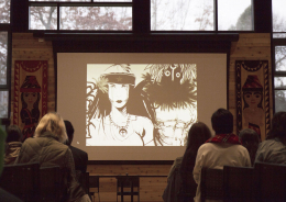 "Still image of movie screening of "" Because of Who I Am"", one of the films presented by Marcella Ernest"