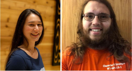 Sierra Red Bow and Reidar Kelstrup, Phi Beta Kappa invitees and AIS majors