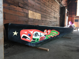 the Willapa Spirit honor canoe