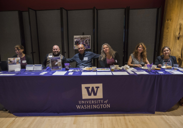 Center staff at an open house in 2019