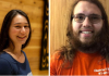 Sierra Red Bow and Reidar Kelstrup, Phi Beta Kappa invitees and AIS majors